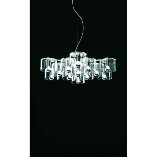 Oluce Fiore Thirteen Lights Suspension Lamp