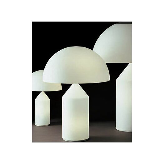 Oluce Atollo Table Lamp with Bowl Shade