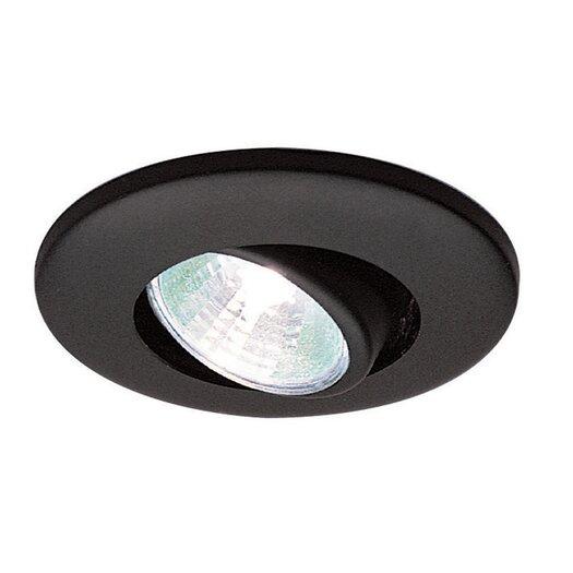 "WAC Lighting Low Voltage Eyeball Miniature Cabinet 2.38"" Recessed Kit"