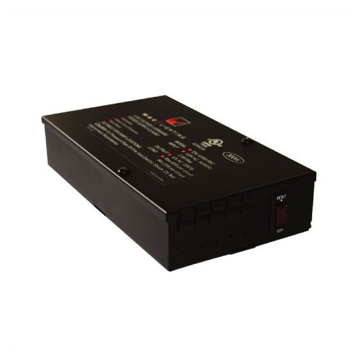 WAC Lighting Class II Enclosed Electronic Transformer in Black