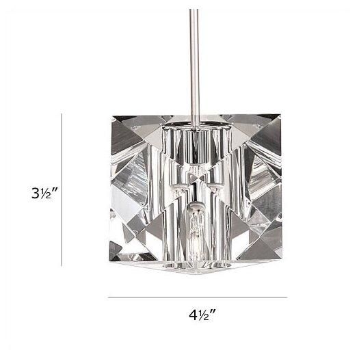 WAC Lighting Crystal Prisma 1 Light Mini Pendant