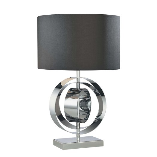 """George Kovacs by Minka Portable 25.25"""" H Table Lamp with Drum Shade"""