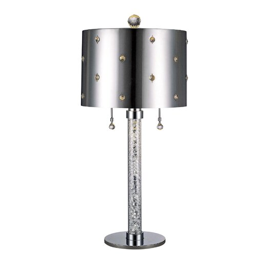 "George Kovacs by Minka Bling Bling 27"" H Table Lamp with Drum Shade"