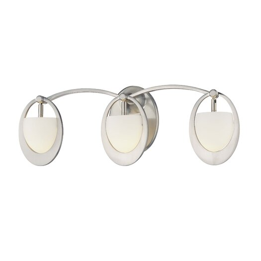 George Kovacs by Minka Earring 3 Light Vanity Light