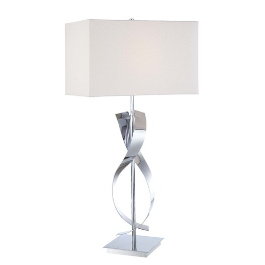 """George Kovacs by Minka Portables 1 Light 25"""" H Table Lamp with Rectangular Shade"""