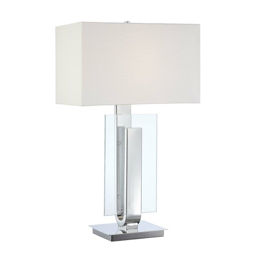 "George Kovacs by Minka Portables 1 Light 31"" H Table Lamp with Rectangular Shade"