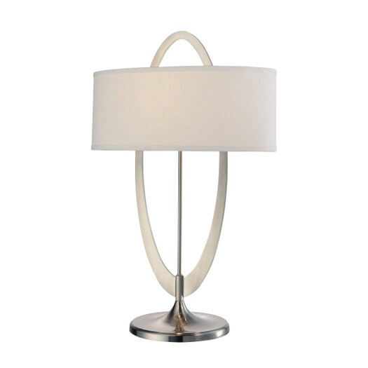 """George Kovacs by Minka Earring 27"""" H Table Lamp with Drum Shade"""