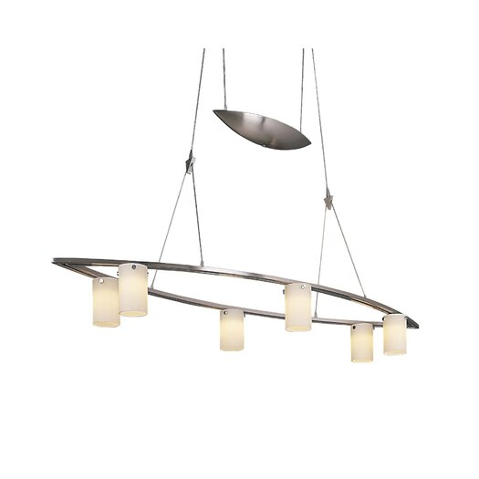 George Kovacs by Minka Counter Weights 6 Light Chandelier