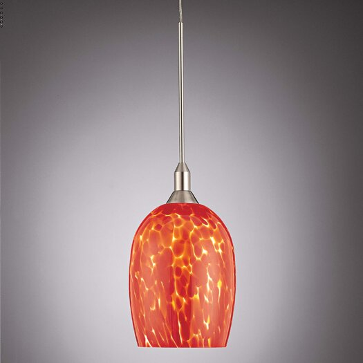 George Kovacs by Minka Droplets Pendant with Red Cased Glass Shade