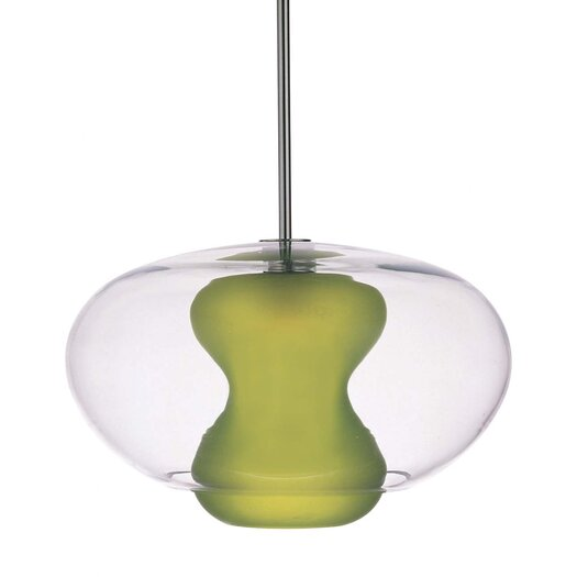 George Kovacs by Minka Soft Pendant with Clear/Apple Green Glass