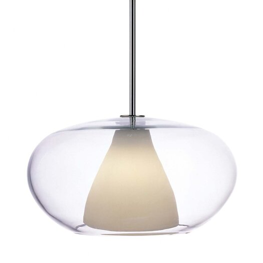 George Kovacs by Minka Soft Pendant with Clear/White Frosted Glass