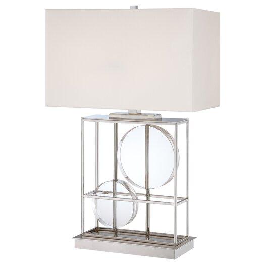 "George Kovacs by Minka 2 Light 28"" H Table Lamp with Rectangular Shade"
