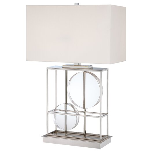 "George Kovacs by Minka 2 Light 28"" H Table Lamp with Rectangular Shade"