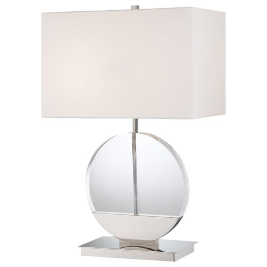 "George Kovacs by Minka 2 Light 26.5"" H Table Lamp with Rectangular Shade"