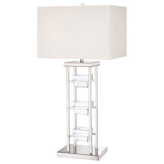 "George Kovacs by Minka 2 Light 33.5"" H Table Lamp with Rectangular Shade"