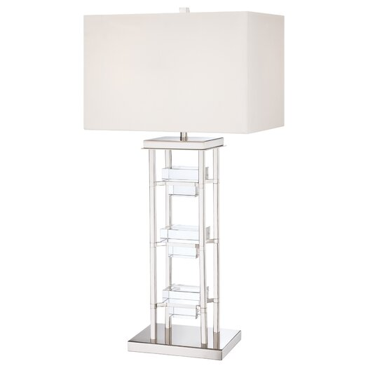 "George Kovacs by Minka 2 Light 33.5"" H Table Lamp with Rectangular Shade"
