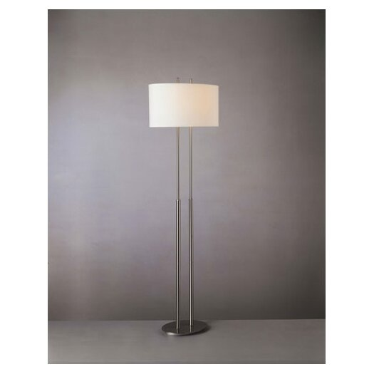 George Kovacs by Minka Floor Lamp with Linen Shade