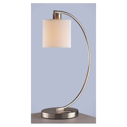 "George Kovacs by Minka Park Curved 21.5"" H Table Lamp with Drum Shade"