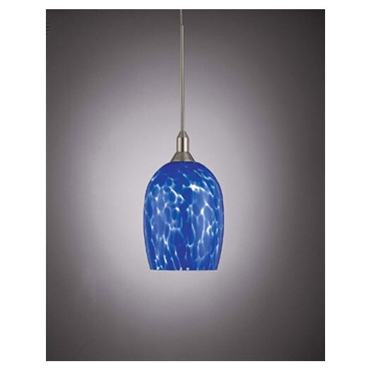 George Kovacs by Minka Droplets Pendant with Blue Cased Glass