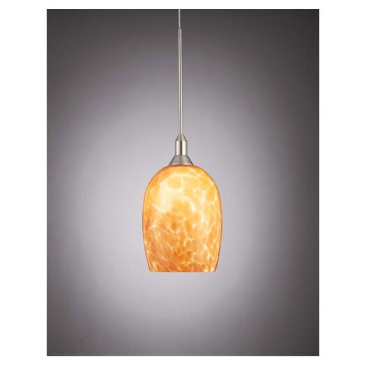 George Kovacs by Minka Droplets Pendant with Amber Cased Glass