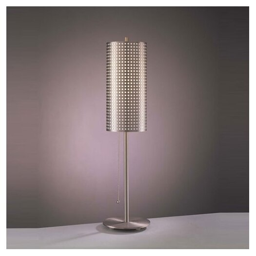 "George Kovacs by Minka Grid 29"" H Table Lamp with Drum Shade"