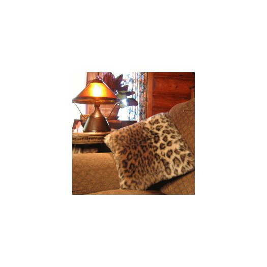 Posh Pelts Ocelot Faux Fur Throw Pillow Cover