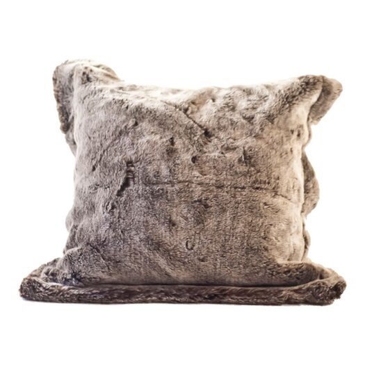 Posh Pelts Chinchilla Faux Fur Pillow Cover