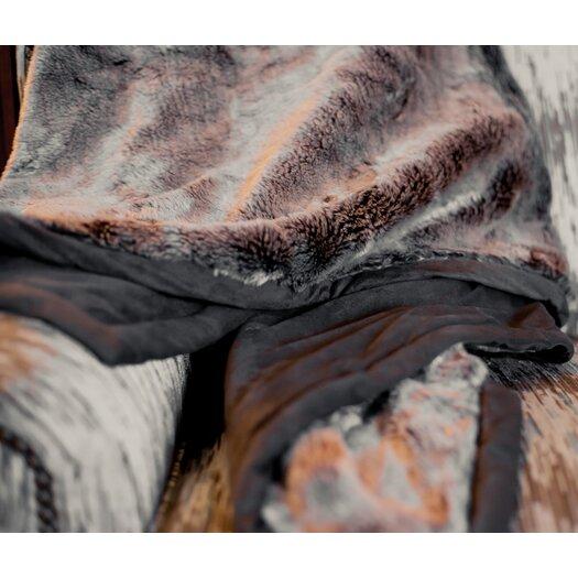 Posh Pelts Russet Chinchilla Faux Fur Acrylic Throw Blanket