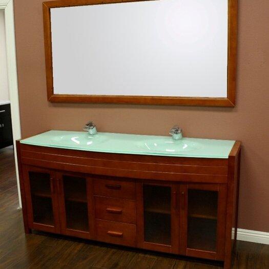 "Design Element Waterfall 71"" Double Sink Vanity Set"