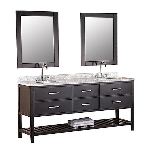"Design Element London 72"" Bathroom Vanity Set with Double Sink"