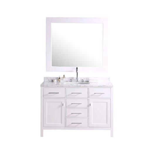 "Design Element London 48"" Single Bathroom Vanity Set with Mirror"