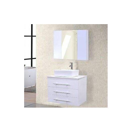 "Design Element Elton 30"" Single Bathroom Vanity Set with Mirror"