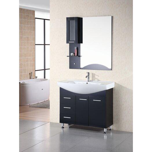 "Design Element Sierra 40"" Vanity Set with Single Sink"