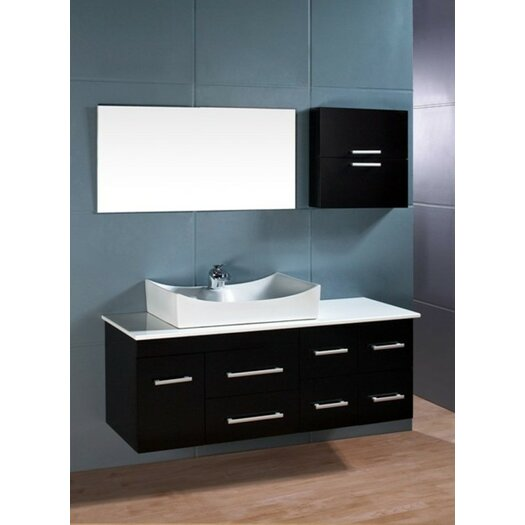 "Design Element Picks 55"" Single Springfield Bathroom Vanity Set with Mirror"
