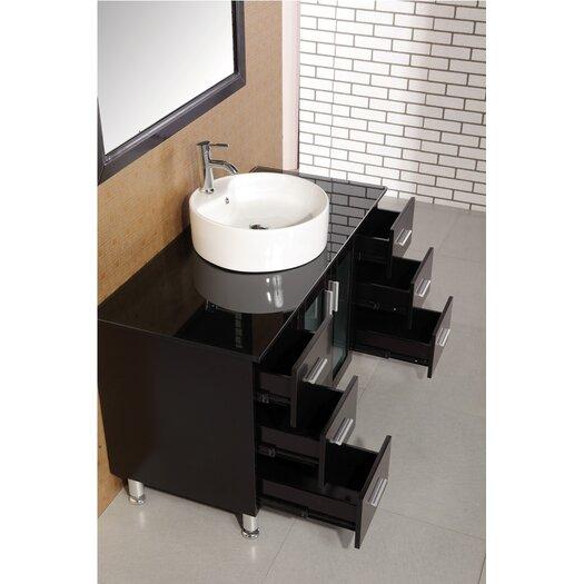 "Design Element Malibu 47"" Single Sink Modern Bathroom Vanity Set"