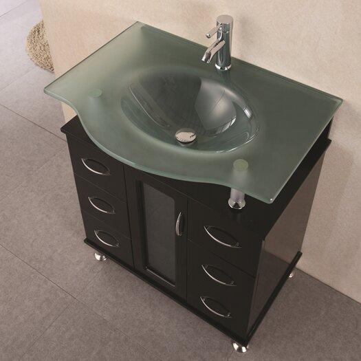 "Design Element Huntington 30"" Vanity Set with Single Sink"