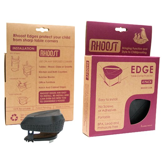 Rhoost Edge Corner Protector in Black (Pack of 4)