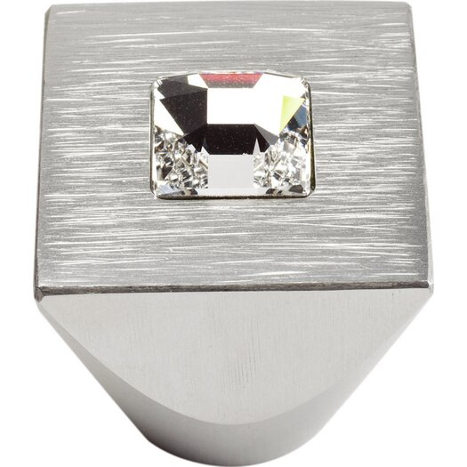 "Atlas Homewares Boutique Crystal 1"" Square Centered Crystal Knob"