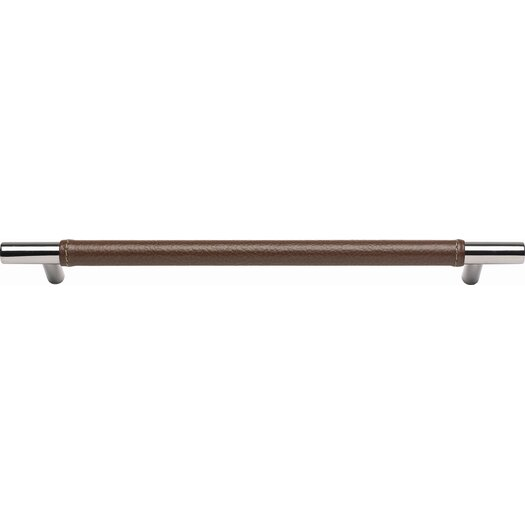 "Atlas Homewares Zanzibar Leather Long 14.5"" Appliance Pull"