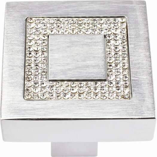 "Atlas Homewares Boutique Crystal 1.4"" Square Knob"