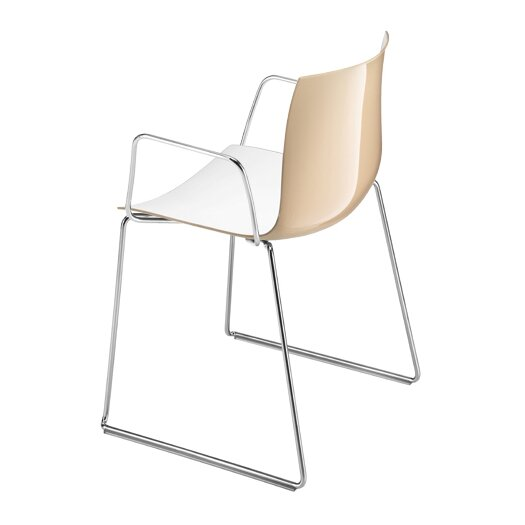 Catifa 46 Polypropylene Armchair with Sled Base