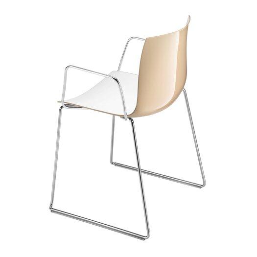Catifa 46 Two Tone Sled Arm Chair