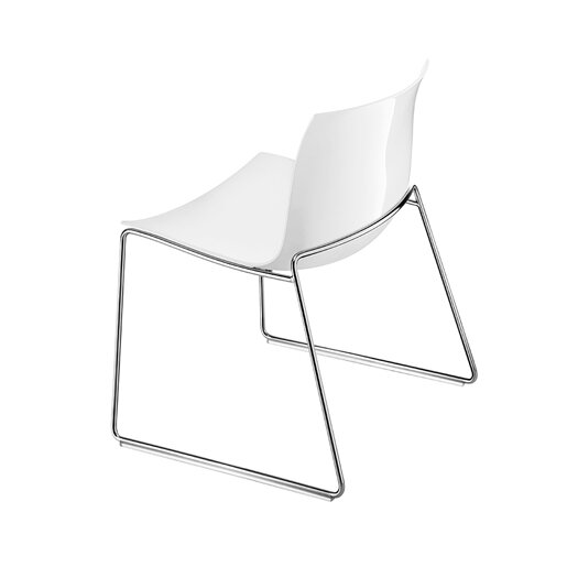 Arper Catifa 53 Polypropylene Lounge Chair with Sled Base