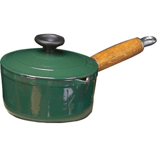 Paderno World Cuisine Cast Iron Saucepan with Lid