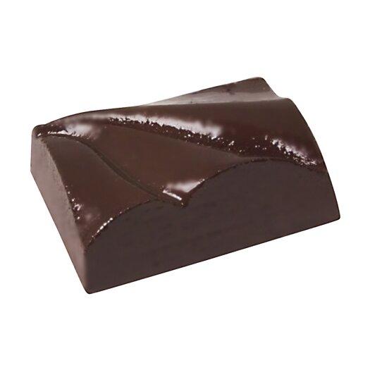 Paderno World Cuisine Rectangular Waves Chocolate Mold