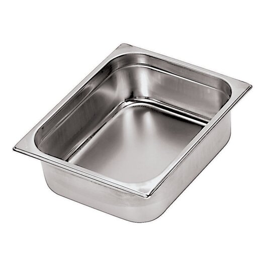 Paderno World Cuisine Stainless Steel Hotel Pan - 2/1 in Silver