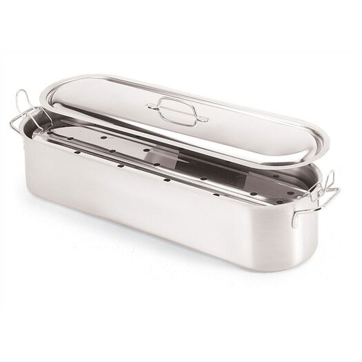 Paderno World Cuisine 23 5/8'' Stainless Steel Fish Poacher