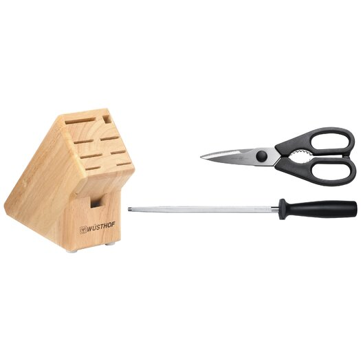 Wusthof 3 Piece Create Your Own Knife Block Set