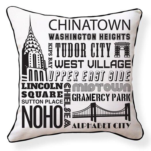 Naked Decor NYC Neighborhoods Throw Pillow