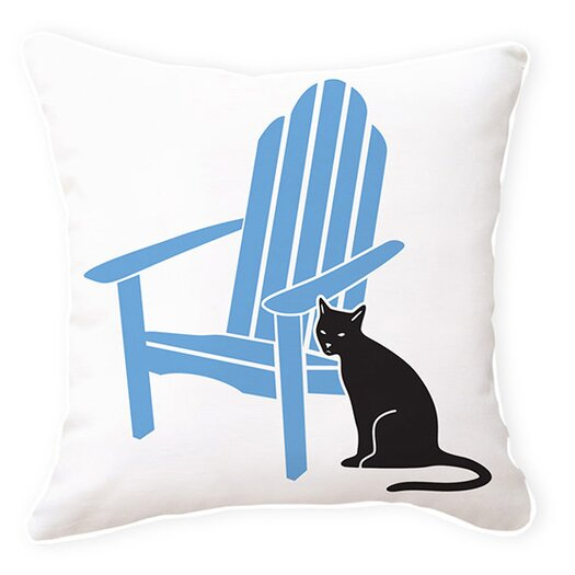 Naked Decor Adirondack Chair with Cat Pillow